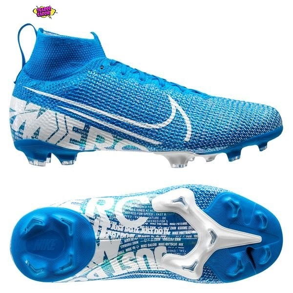 Offerta Nike Mercurial Superfly 7 Elite FG Blu Bianco Outlet